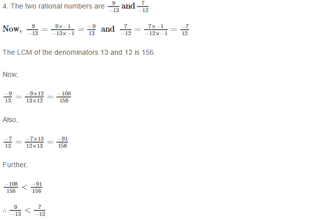 Rational Numbers RS Aggarwal Class 8 Solutions 8.4