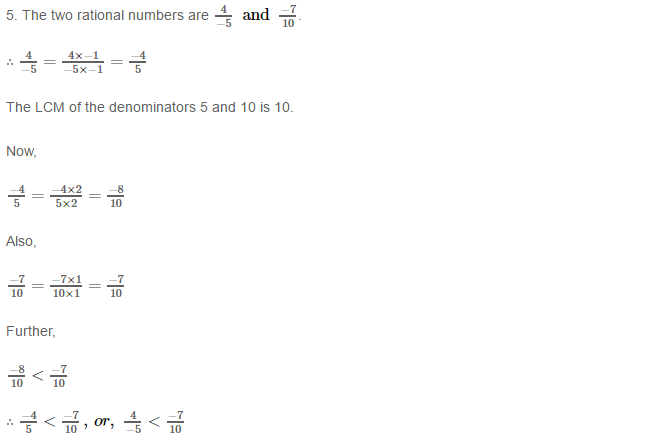 Rational Numbers RS Aggarwal Class 8 Solutions 8.5