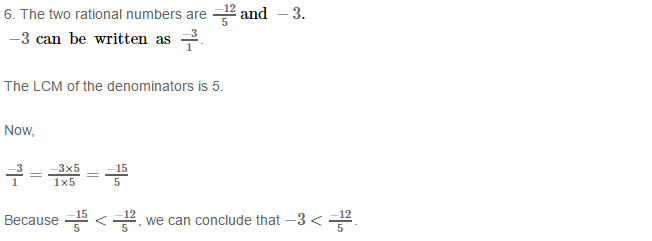 Rational Numbers RS Aggarwal Class 8 Solutions 8.6