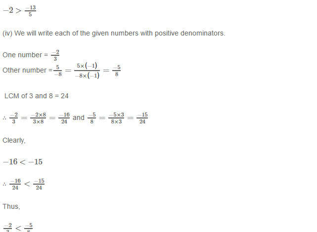 Rational Numbers RS Aggarwal Class 8 Solutions 9.3