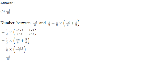 Rational Numbers RS Aggarwal Class 8 Solutions CCE Test Paper 17.1