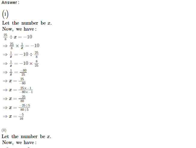 Rational Numbers RS Aggarwal Class 8 Solutions CCE Test Paper 18.1
