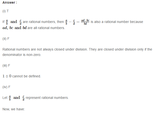 Rational Numbers RS Aggarwal Class 8 Solutions CCE Test Paper 19.1