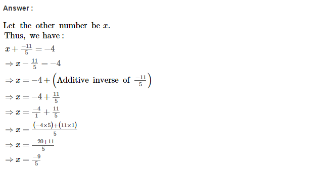 Rational Numbers RS Aggarwal Class 8 Solutions CCE Test Paper 2.1