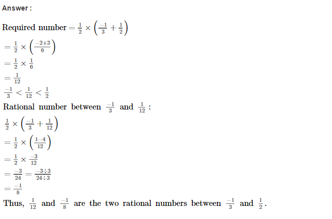 Rational Numbers RS Aggarwal Class 8 Solutions CCE Test Paper 9.1