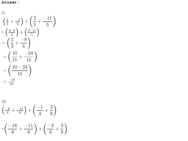 Rational Numbers RS Aggarwal Class 8 Solutions Ex 1C 8.1