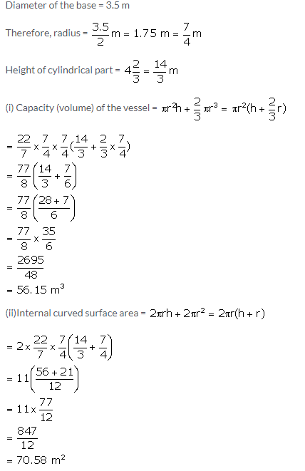 Selina Concise Mathematics Class 10 ICSE Solutions Cylinder, Cone and Sphere image - 104