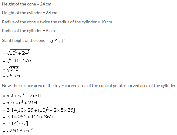 Selina Concise Mathematics Class 10 ICSE Solutions Cylinder, Cone and Sphere image - 106