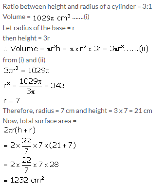 Selina Concise Mathematics Class 10 ICSE Solutions Cylinder, Cone and Sphere image - 11