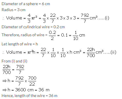 Selina Concise Mathematics Class 10 ICSE Solutions Cylinder, Cone and Sphere image - 125