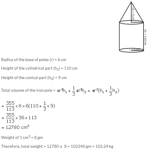 Selina Concise Mathematics Class 10 ICSE Solutions Cylinder, Cone and Sphere image - 128