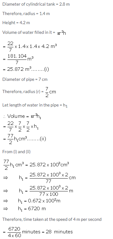 Selina Concise Mathematics Class 10 ICSE Solutions Cylinder, Cone and Sphere image - 133