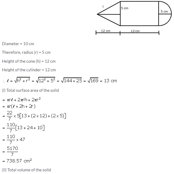 Selina Concise Mathematics Class 10 ICSE Solutions Cylinder, Cone and Sphere image - 137