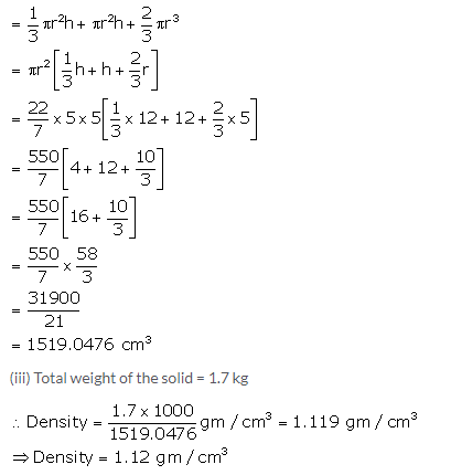 Selina Concise Mathematics Class 10 ICSE Solutions Cylinder, Cone and Sphere image - 138