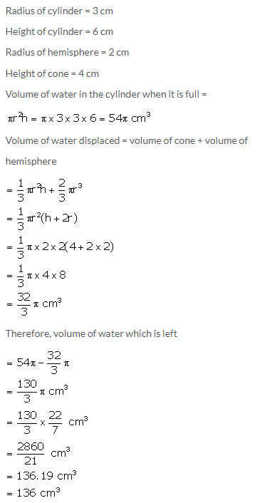 Selina Concise Mathematics Class 10 ICSE Solutions Cylinder, Cone and Sphere image - 140