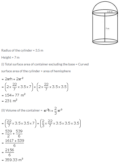 Selina Concise Mathematics Class 10 ICSE Solutions Cylinder, Cone and Sphere image - 142