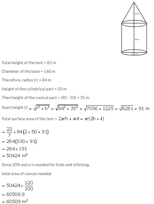 Selina Concise Mathematics Class 10 ICSE Solutions Cylinder, Cone and Sphere image - 144