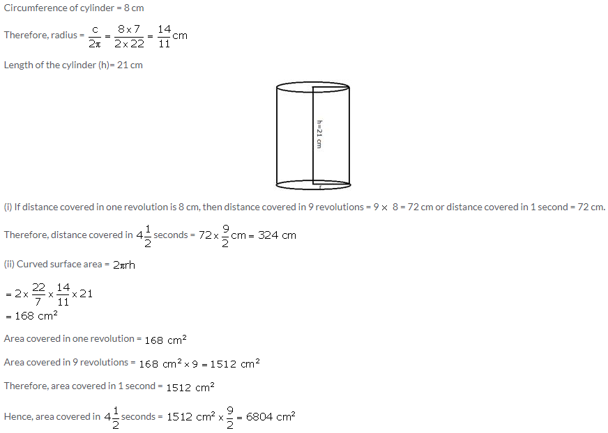 Selina Concise Mathematics Class 10 ICSE Solutions Cylinder, Cone and Sphere image - 3