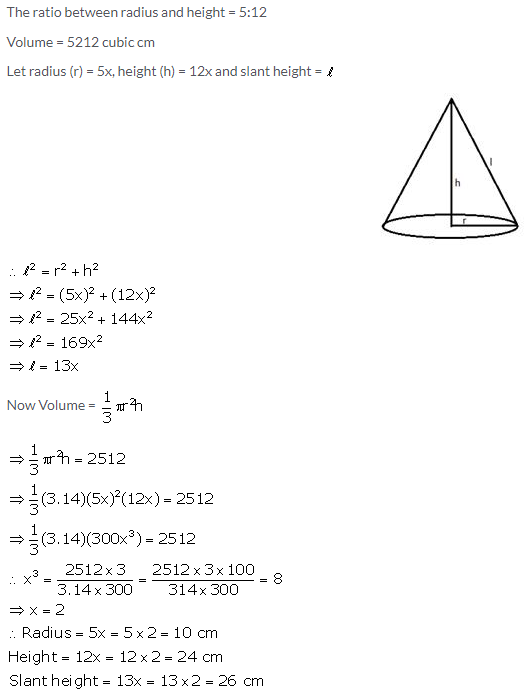 Selina Concise Mathematics Class 10 ICSE Solutions Cylinder, Cone and Sphere image - 38