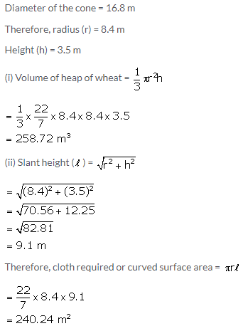 Selina Concise Mathematics Class 10 ICSE Solutions Cylinder, Cone and Sphere image - 42