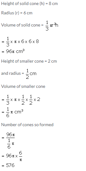 Selina Concise Mathematics Class 10 ICSE Solutions Cylinder, Cone and Sphere image - 45