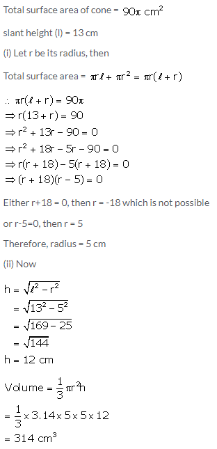 Selina Concise Mathematics Class 10 ICSE Solutions Cylinder, Cone and Sphere image - 47