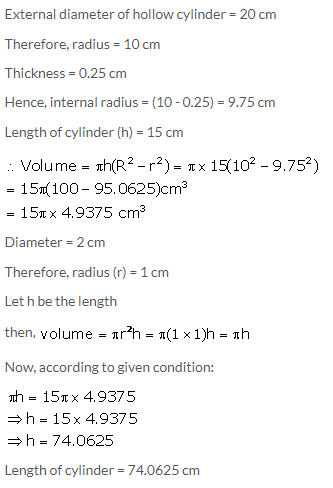 Selina Concise Mathematics Class 10 ICSE Solutions Cylinder, Cone and Sphere image - 5