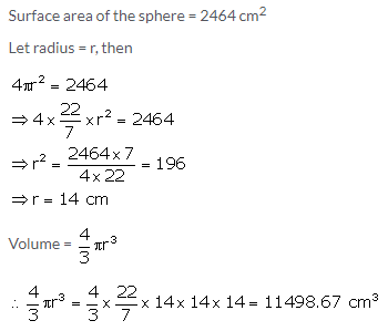 Selina Concise Mathematics Class 10 ICSE Solutions Cylinder, Cone and Sphere image - 54