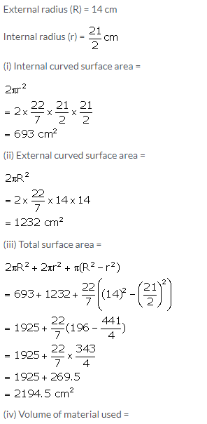 Selina Concise Mathematics Class 10 ICSE Solutions Cylinder, Cone and Sphere image - 62