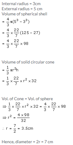 Selina Concise Mathematics Class 10 ICSE Solutions Cylinder, Cone and Sphere image - 70