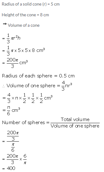 Selina Concise Mathematics Class 10 ICSE Solutions Cylinder, Cone and Sphere image - 74
