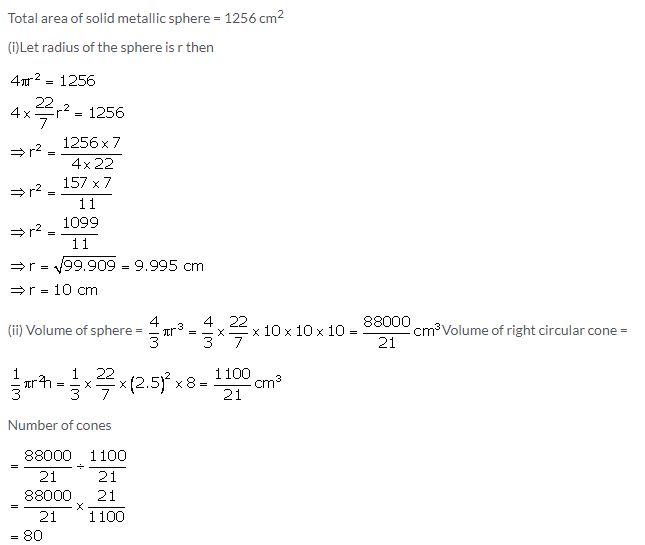 Selina Concise Mathematics Class 10 ICSE Solutions Cylinder, Cone and Sphere image - 76