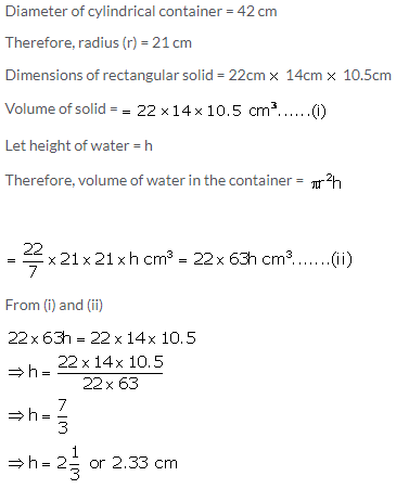 Selina Concise Mathematics Class 10 ICSE Solutions Cylinder, Cone and Sphere image - 8