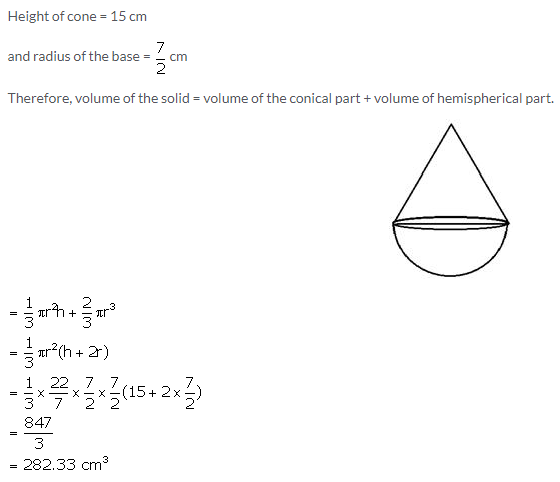 Selina Concise Mathematics Class 10 ICSE Solutions Cylinder, Cone and Sphere image - 81