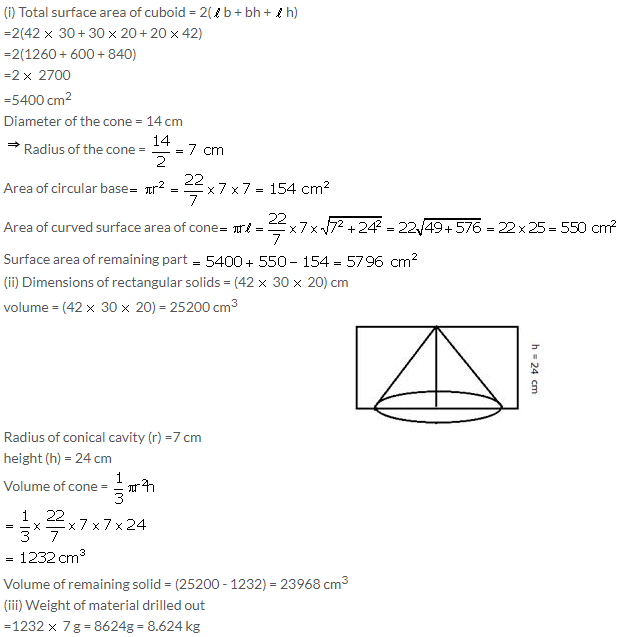 Selina Concise Mathematics Class 10 ICSE Solutions Cylinder, Cone and Sphere image - 84