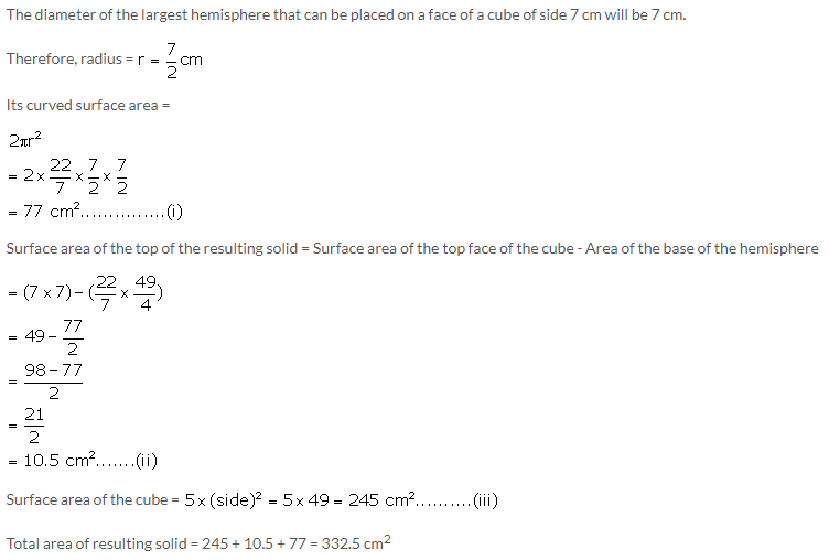 Selina Concise Mathematics Class 10 ICSE Solutions Cylinder, Cone and Sphere image - 85