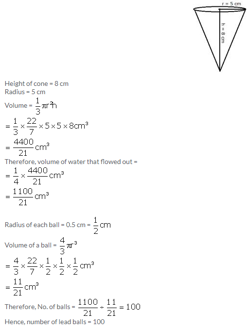 Selina Concise Mathematics Class 10 ICSE Solutions Cylinder, Cone and Sphere image - 86