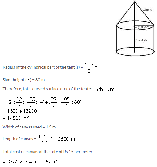 Selina Concise Mathematics Class 10 ICSE Solutions Cylinder, Cone and Sphere image - 96
