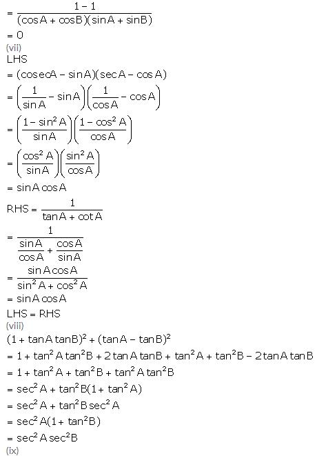 Selina Concise Mathematics Class 10 ICSE Solutions Trigonometrical Identities image - 100