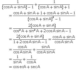 Selina Concise Mathematics Class 10 ICSE Solutions Trigonometrical Identities image - 101