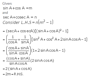 Selina Concise Mathematics Class 10 ICSE Solutions Trigonometrical Identities image - 109
