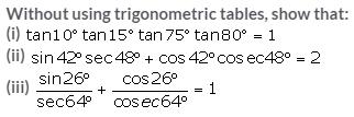 Selina Concise Mathematics Class 10 ICSE Solutions Trigonometrical Identities image - 114