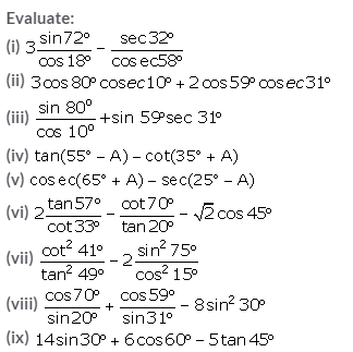 Selina Concise Mathematics Class 10 ICSE Solutions Trigonometrical Identities image - 122
