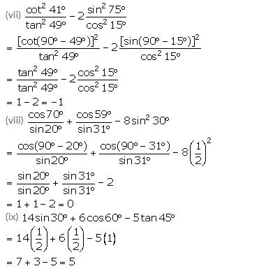 Selina Concise Mathematics Class 10 ICSE Solutions Trigonometrical Identities image - 124