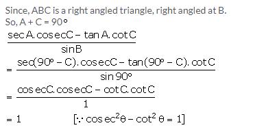 Selina Concise Mathematics Class 10 ICSE Solutions Trigonometrical Identities image - 126