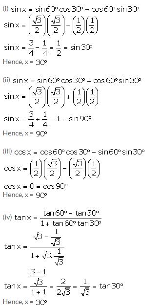 Selina Concise Mathematics Class 10 ICSE Solutions Trigonometrical Identities image - 128