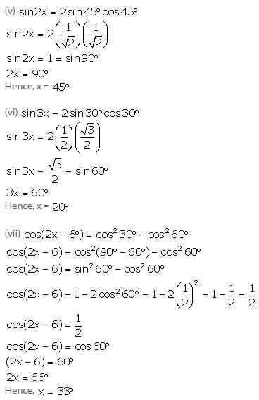 Selina Concise Mathematics Class 10 ICSE Solutions Trigonometrical Identities image - 129