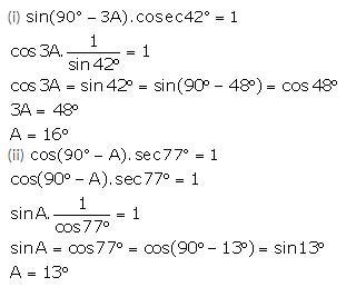 Selina Concise Mathematics Class 10 ICSE Solutions Trigonometrical Identities image - 131