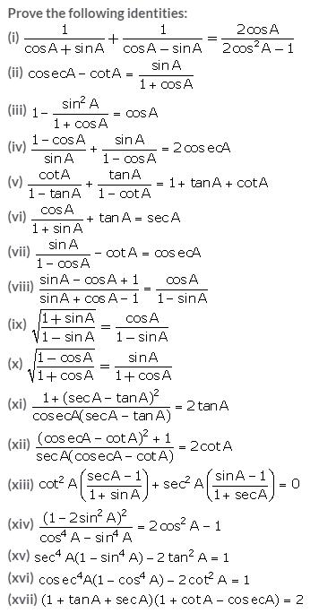 Selina Concise Mathematics Class 10 ICSE Solutions Trigonometrical Identities image - 151