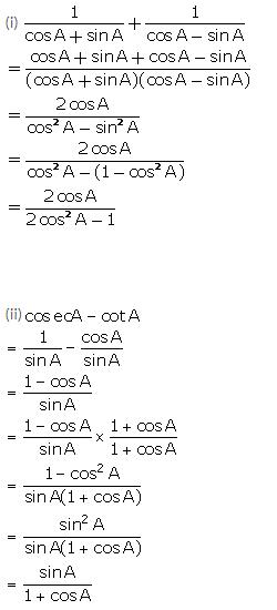 Selina Concise Mathematics Class 10 ICSE Solutions Trigonometrical Identities image - 152